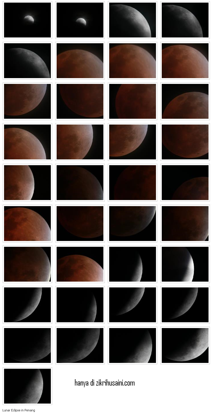 gerhana bulan di pulau piang disember 2011, gerhana bulan 2011, gambar gerhana bulan, gerhana bulan penuh, gerhana penuh di malaysia, gambar gerhana bulan di melaka